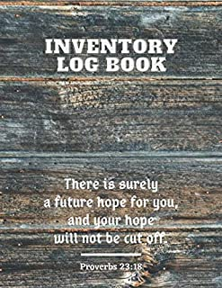 Inventory Log Book: Wood Fence Paperback Cover 120 Pages Simple Inventory Log Book For Use At Home And For Small Business ...