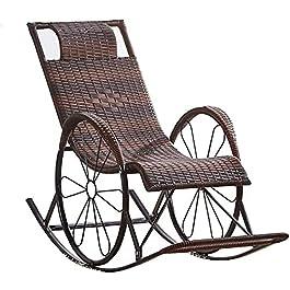 HUYEERDF Chaises de rotin Chaises Longues Collaboration Zéro Gravity Sungers Chaises Détendez-Vous Relax Rocking Chaises…