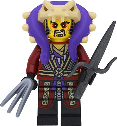 LEGO Ninjago - Minifigura del maestro Chen con garra y espadas (competición de los elementos)