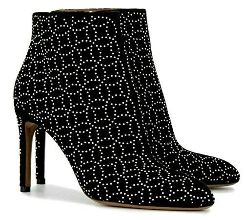 ALAÏA Paris Velvet 7H3T665TF34 Laser Cut Highheels Ankle Boots Stiefel Stiefelette 38