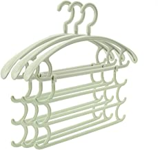 TXC- Hanger Seamless Non-Slip Clothing Support Household Clothes Rack Adult hanger Plastic hanger Multipurpose (Color : Gr...