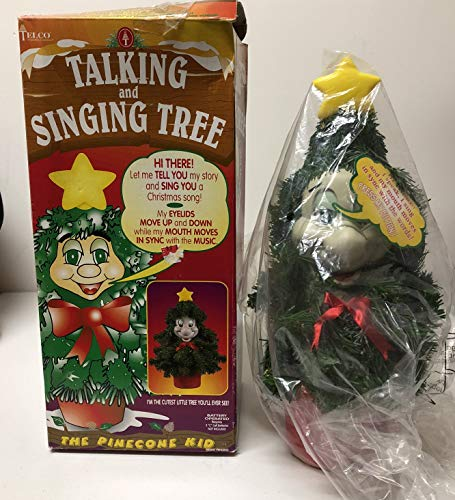 Telco 14' Talking and Singing Tree 'The Pinecone Kid' Christmas Motionette