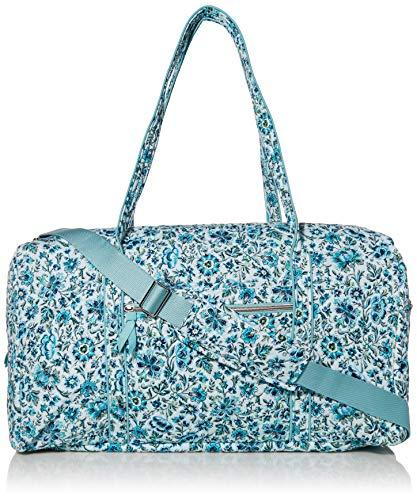 Vera Bradley Women's Signature Cotton Lay Flat Travel Duffel Travel Bag, Cloud Vine, One Size