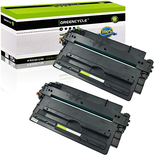 GREENCYCLE 14A CF214A Toner Cartridge Replacement Compatible for HP Laserjet Enterprise 700 M712dn M712n M712xh MFP M725dn MFP M725f MFP M725z MFP M725z+,Page Yield up to 10000 Pages (Black,2 Pack)