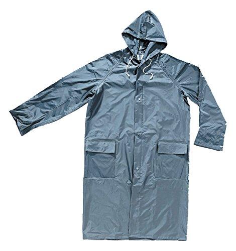 Waterdichte badjas van nylon, met capuchon, kleur: blauw XXL Donkerblauw