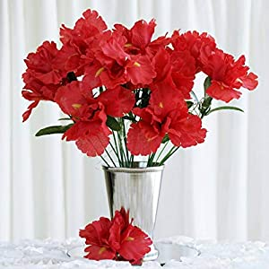 60 Red Silk IRIS Wholesale Wedding Flowers Bouquets Centerpieces SALE
