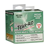 TEAR-AID Repair Patches provide a simple and easy method of patching holes and tears, as well as an excellent protective film solution. Each TEAR-AID Repair Patch is made from an exceptionally tough, matte finish, abrasion resistant, elastomer that r...