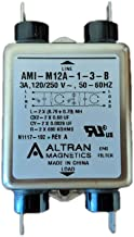 M12A Series 3 Amp Power Line EMI Filter with Quick Connects