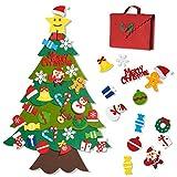 Joyjoz Árbol de Navidad de Fieltro, 32 Piezas Decoración de Navidad para Colgar en la Pared y en la Puerta