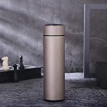 500ml Stainless Steel Thermos Bottle Intelligent Temperature Display Thermos Mug Portable Business Gift Cup Water Bottle Custom,Beige,500ml