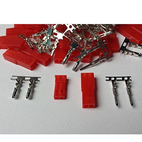 MR-Onlinehandel ® 20 Paar (40 Stück) JST BEC kompatible Stecker und Buchse Crimp Set