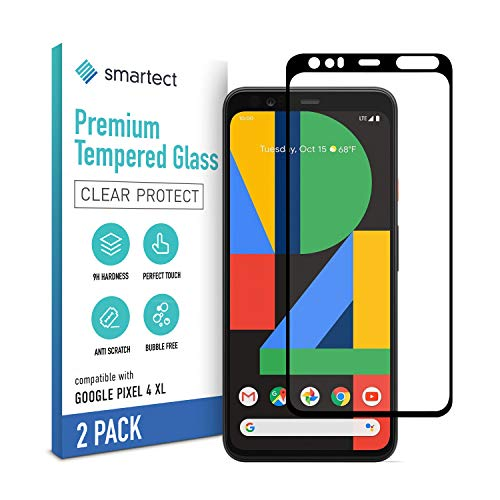 smartect Schutzglas kompatibel mit Google Pixel 4 XL [2 STÜCK - FULL - CLEAR] - Tempered Glass mit 9H Festigkeit - Blasenfreie Schutzfolie - Anti-Kratzer Bildschirmschutzfolie