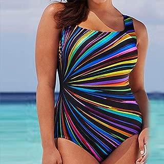 BEESCLOVER L,XL,XXL,XXXL Swimsuit Costume Padded Monokini Andzhelika Sports Sexy Swimwear Women Soft Cup Patchwork Stripe Sportwear