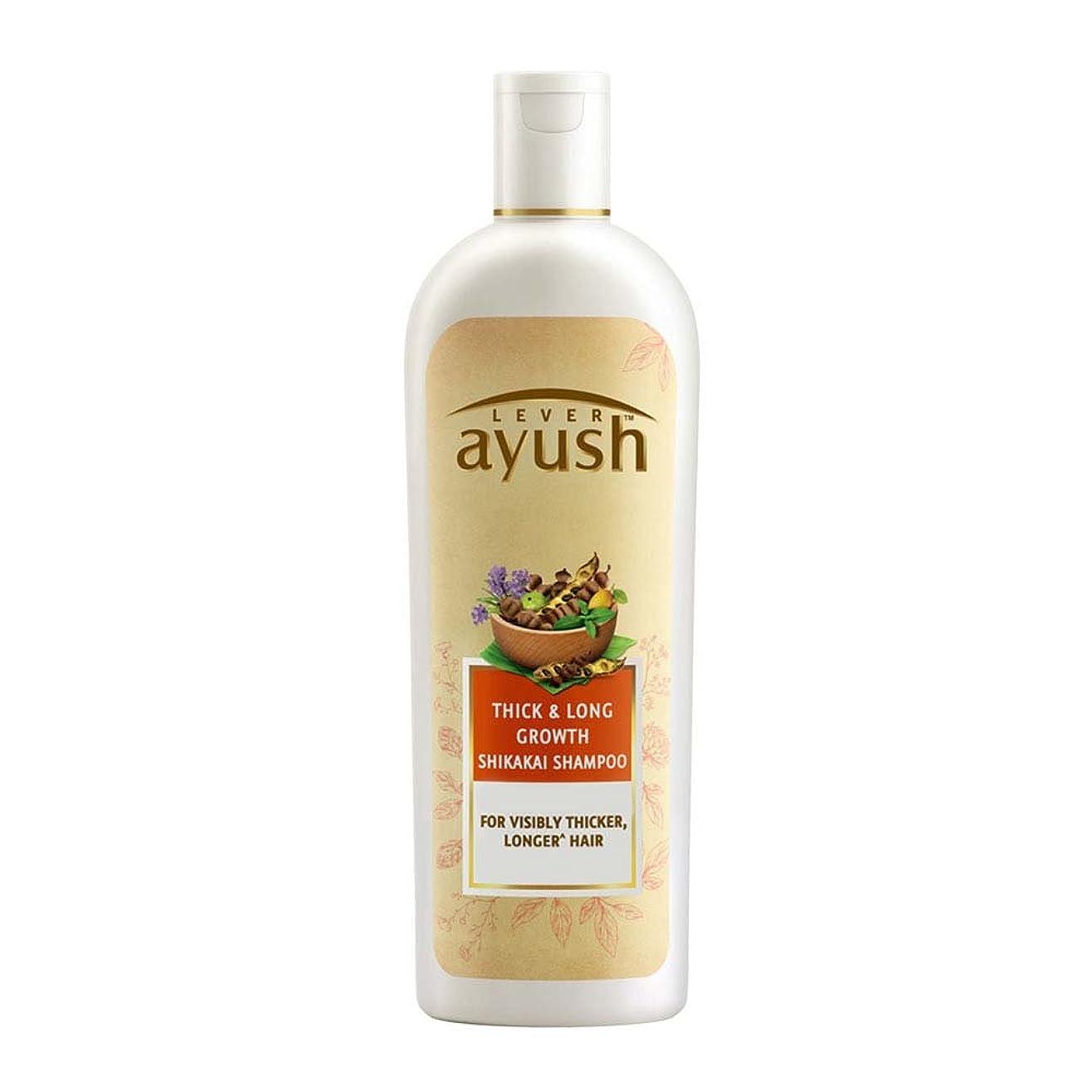 局今後ラッチLever Ayush Thick and Long Growth Shikakai Shampoo, 175ml - 並行輸入品 - レバーアユッシュシック&ロンググローブシカカイシャンプー、175ml