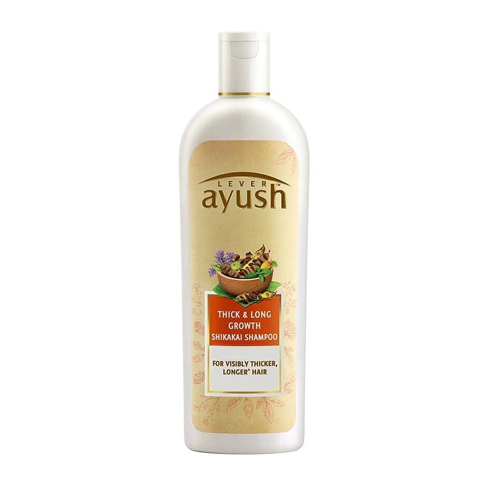 ラブおもちゃ逆さまにLever Ayush Thick and Long Growth Shikakai Shampoo, 175ml - 並行輸入品 - レバーアユッシュシック&ロンググローブシカカイシャンプー、175ml
