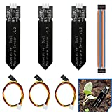 DAOKI 3Pcs Capacitive Soil Moisture Sensor V1.2 Corrosion Resistant with Cable Wire for Arduino Moisture Detection Garden Watering DIY Electronic Raspberry Pi + Dupont Cable