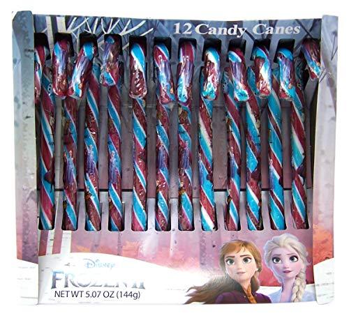 Disney Frozen 2 Blue Raspberry Stocking Stuffer Candy Canes 5.07 Ounce