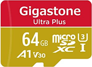 Gigastone 64GB Micro SD Card, 4K Video Recording, 4K Game Pro, Nintendo Switch Compatible, R/W up to 95/35 MB/s, Micro SDXC UHS-I A1 V30 Class 10