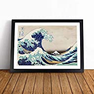 Framed Wall Art Print - The Great Wave off Kanagawa by Katsushika Hokusai - Framed Wall Art Print Ho...