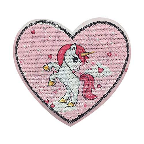 Hosaire 1X Amor Lentejuelas Rosa Unicornio
