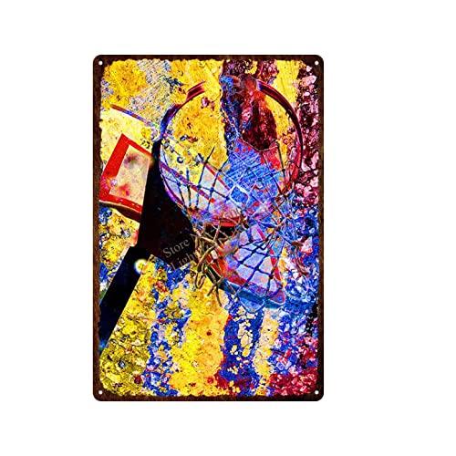 Puzzle 1000 pezzi Cartello da basket sportivo in metallo retrò arte pittura retrò puzzle 1000 pezzi paesaggi divertente gioco per famiglie per bambini adulti Puzzle educativi50x75cm(20x30inch)