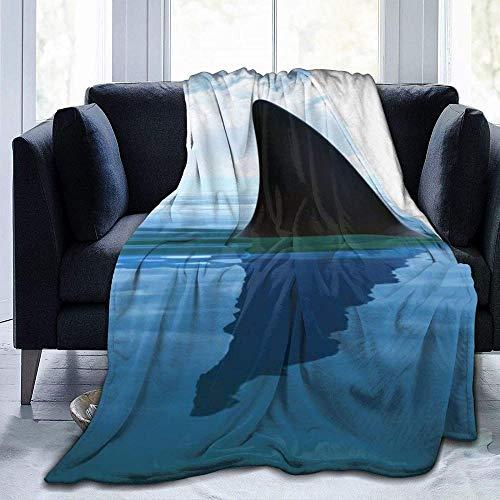 DWgatan Kuscheldecke Decke,Flannel Plush Throw 100% Polyester Shark Cum Printed Mikrofaser Plüschdecke für Schlafzimmer Wohnzimmer Couch Bett Sofa für Kinder Erwachsene -80'x60