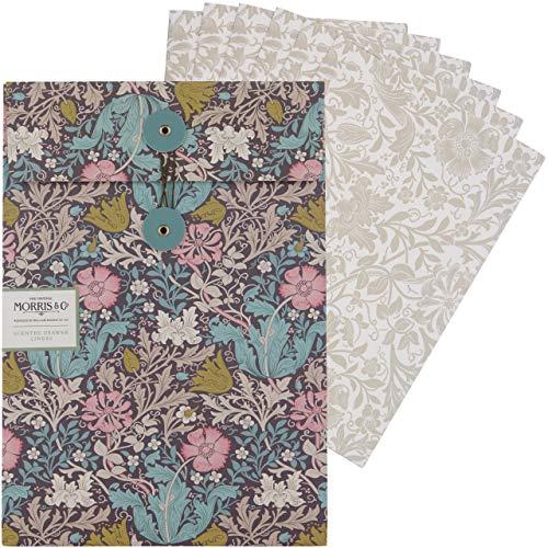 Morris & Co. Bolsas de arcilla rosa y madreselva perfumadas para cajones,...