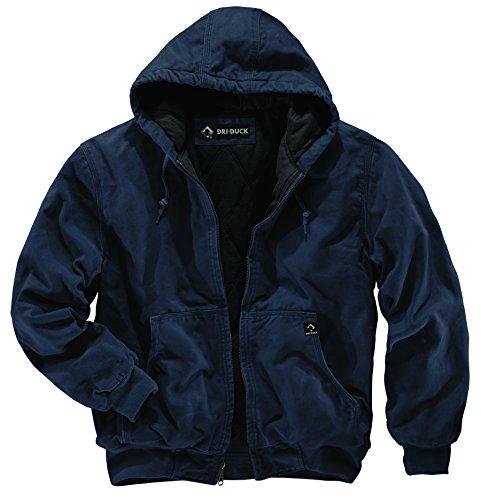 DRI Duck Men's 5020 Cheyenne Hooded Work Jacket, Navy, Large