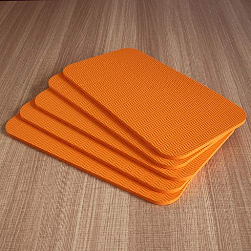Kniebänke Garden Kneeler, 5er Pack Garten Knieschützer, High Density Foam Kniepolster Badeboden Yoga Kniescheibe, für Die Gartenarbeit, Babywanne Garden Kneeler ( Color : Orange , Size : 34x17cm )