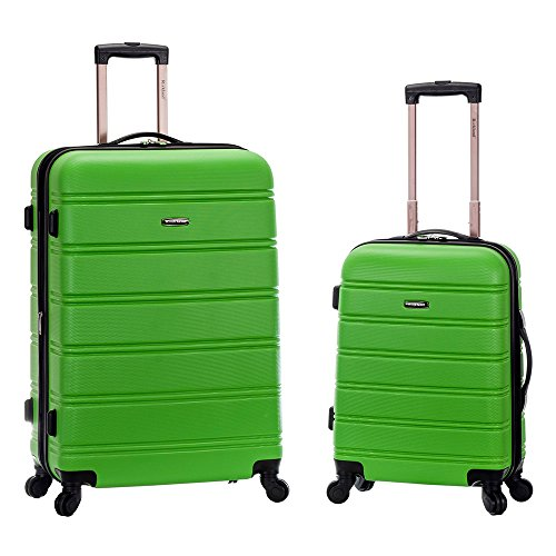 Rockland 20 Inch 28 Inch 2 Piece Expandable Abs Spinner Set, GREEN