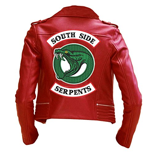 EU Fashions Riverdale Southside Serpents Giacca Rosso - Giacca in vera pelle 3XL