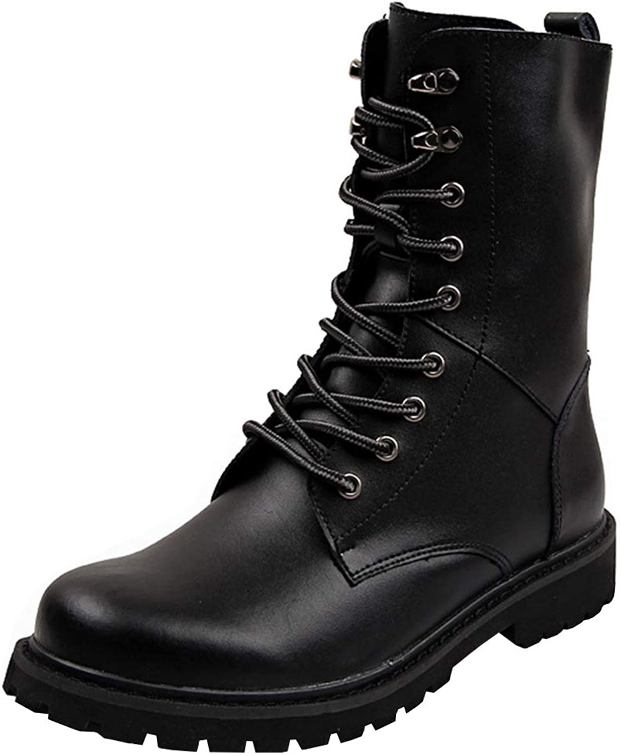 Men's Martin Boots Casual high Boots Bare Boots,Outdoor Waterproof Anti-Skiing Boots,Punk Leather Boots Western Cowboy Boots Police Boots