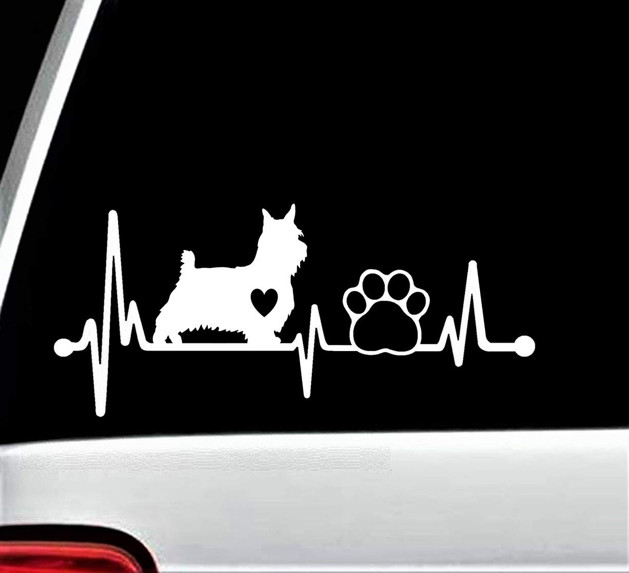 Westie Terrier Heartbeat Lifeline Decal Sticker 8 Car for Window It Free shipping anywhere in the nation is very popular