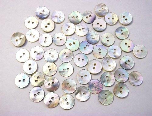 真珠の母貝 ボタン PearlShell SH-2165 (13mm 50個セット)