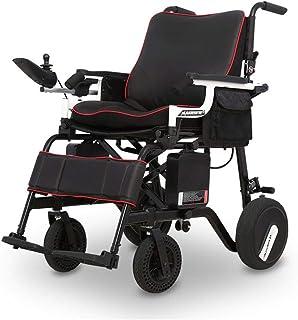 HYRL Sillas de Ruedas eléctricas motorizadas Plegables, sillas de Ruedas Ligeras para Personas Mayores, Plegables Plegables, compactas, ayudas de Movilidad, Transporte amigable