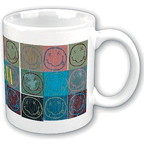 Nirvana - Keramik Tasse - Smiley Icons - Logo - Geschenkbox