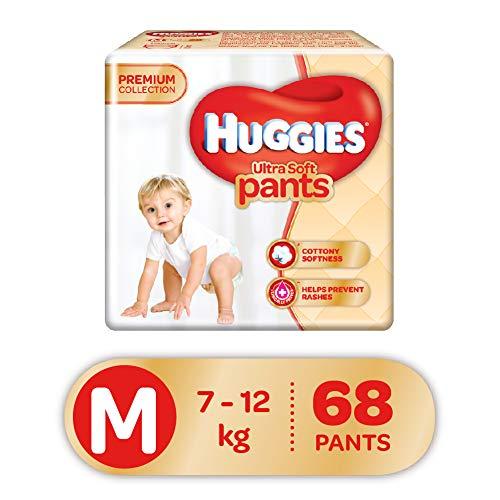 Huggies Ultra Soft Pants Diapers, Medium (Pack of 68)