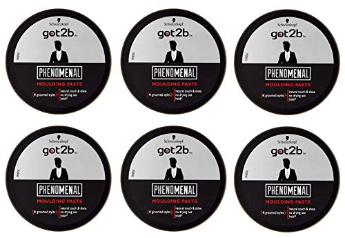 SIX PACKS of Schwarzkopf Got2b Phenomenal Moulding Paste 100ml by GOT 2B