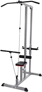 Thinktoo Home Gym Body Lat Pull Down Machine Low Bar Cable Fitness Training Weigh Home Gym Sports
