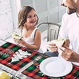 MTaoyac Weihnachten Deko, Weihnachts-Platzsets, Weihnachts-Tischsets und Untersetzer, rutschfest ,hitzebeständig, wasserdicht, Schmutzabweisend und Waschbare.(6er Set) - 6