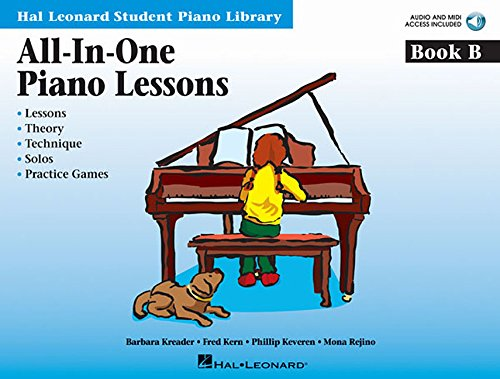 All-In-One Piano Lessons Book B: Book with Audio Access Included (Hal Leonard Student Piano Library (Songbooks))