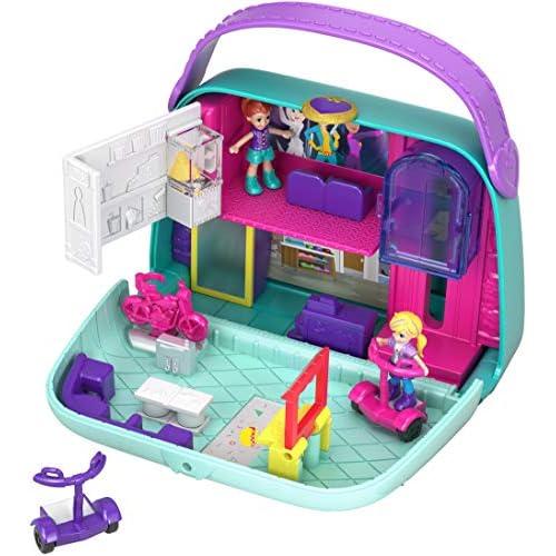 Polly Pocket, Cofanetto Shopping Centro Commerciale, Giocattolo per Bambini 4+Anni, GCJ86