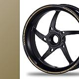 NEW! Felgenrandaufkleber GP Style Auto Motorrad Felgenaufkleber (gold-metallic)