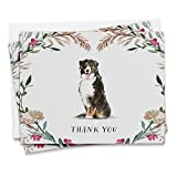 Twigs Paper - Bernese Mountain Dog Thank You Cards - Set of 12 Blank Cards with Envelopes (5.5 x 4.25 Inch) - 100% EcoFriendly Stationery - Recycled - Made in USA (1 Design, 12 Cards Total)