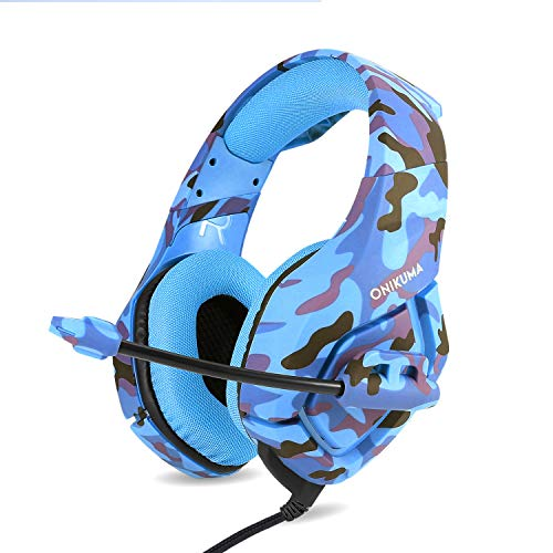 Wired headphones K1B camouflage gray phone headset headset headset K1B Camouflage Blue and Conversion Line