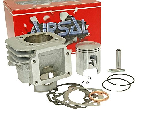 Kit cylindre 70 cm³ AIRSAL T6 Tech-Piston pour MBK Booster Naked 50 cc, NG, Rocket, Spirit, Track