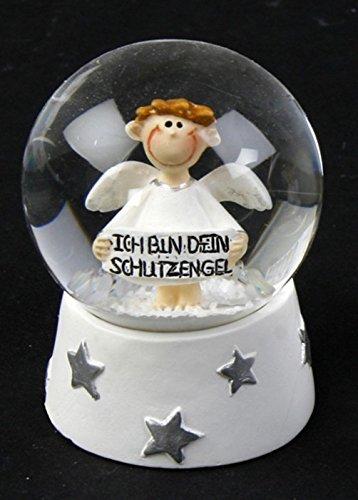 Michel Toys Schneekugel Schutzengel weiß, Modell:Sterne