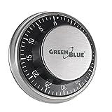 Temporizador minutero timer de cocina mecánico con imán magnético cronómetro Green Blue 60 minutos imagen cerradura caja fuerte
