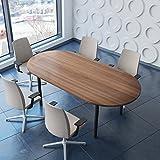 Tavolo professionale per riunioni, 200 x 100 cm, Optima 4-6 persone