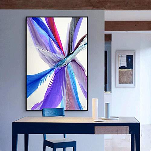 Tela Dipinti Colorati Astratto Piuma Immagini Wall Art Poster Per Soggiorno Decorazione Stampe/50x80cm No Frame